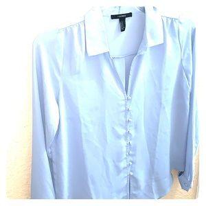 Baby blue botton down,long sleeve shirt